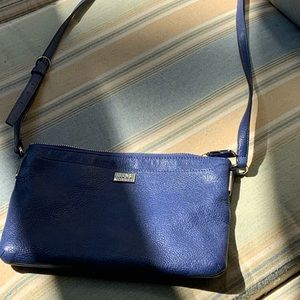 Coach crossbody bag in periwinkle-ish blue